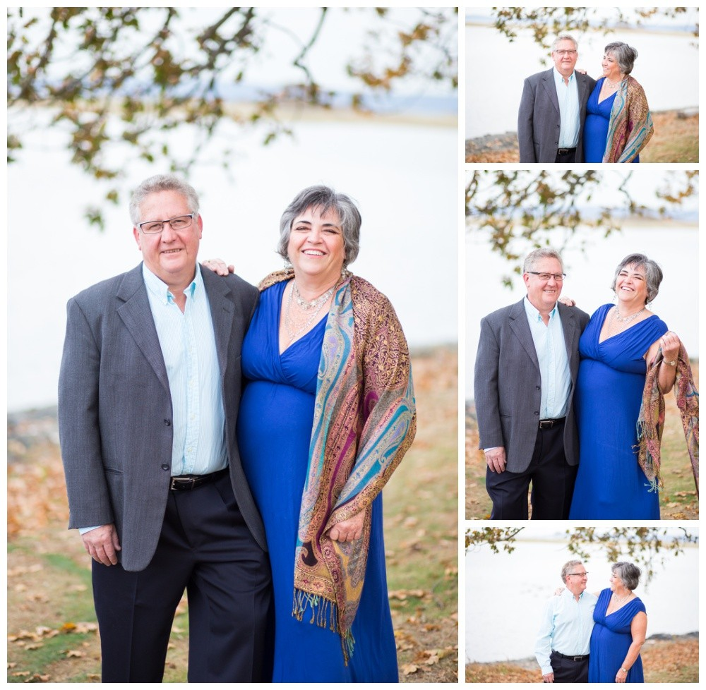 Older couple poses for couples photos at Nanaimo Park