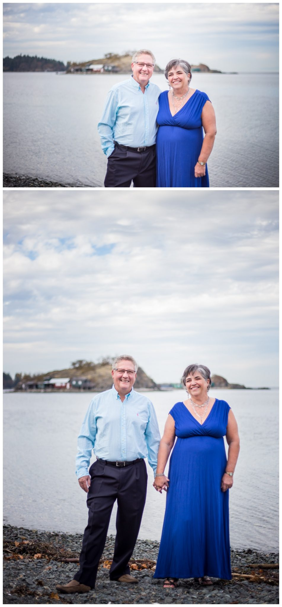 Couples portraits on the beach by Nanaimo Photographer