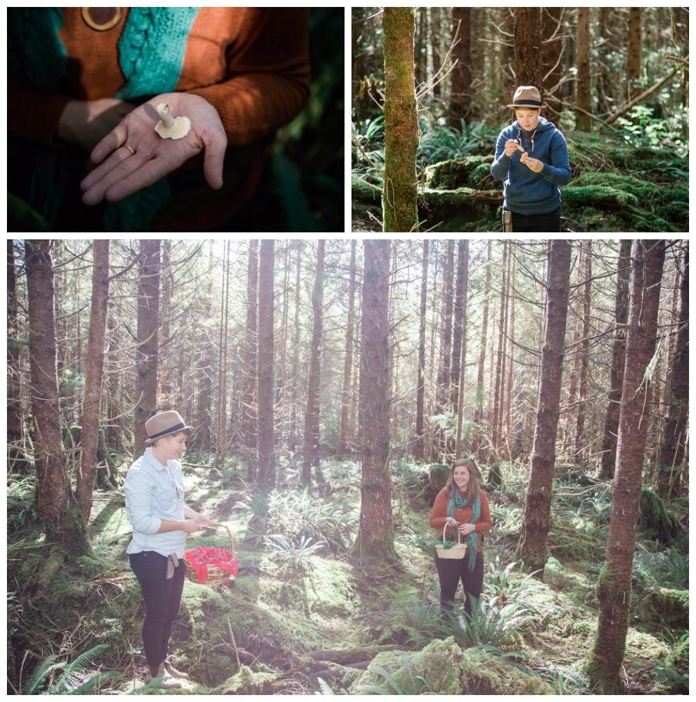 'Forest Gold' mushroom picking portraits