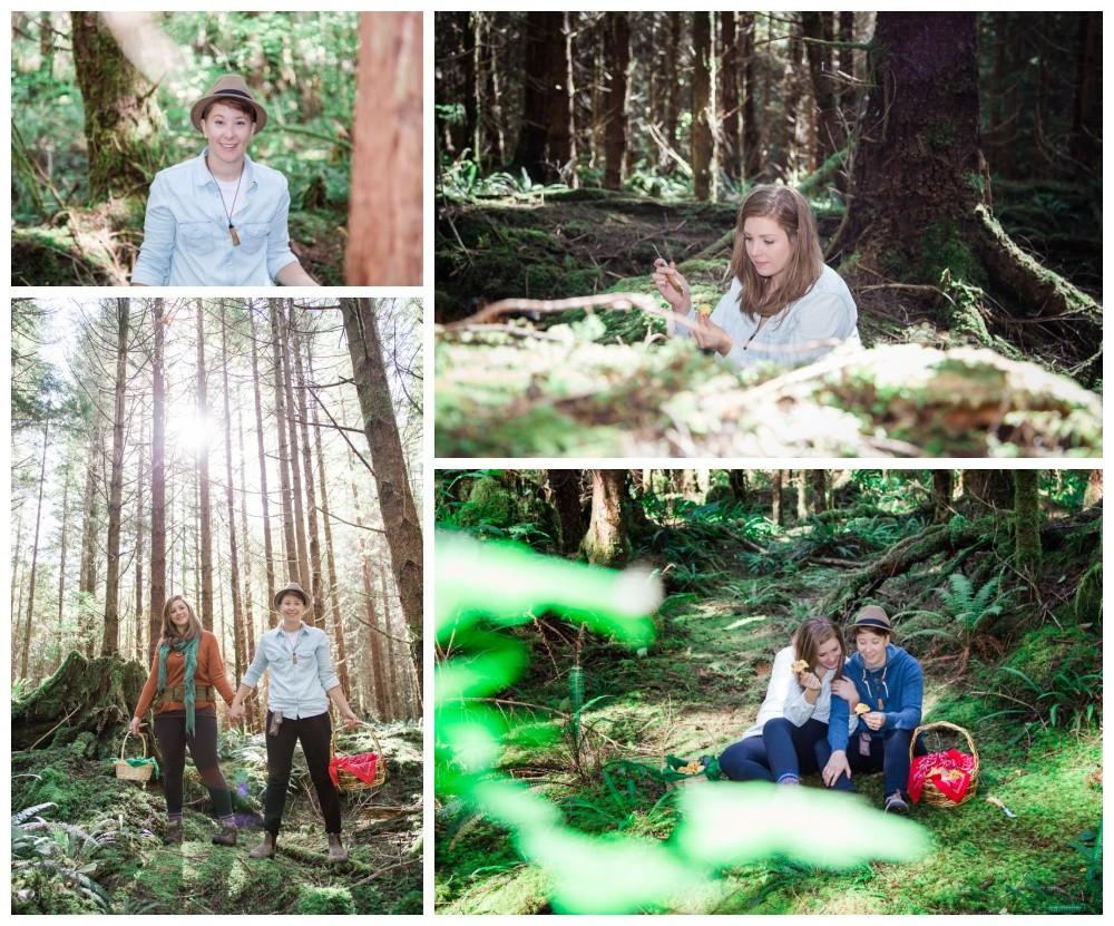 PNW forest engagement session lgbt