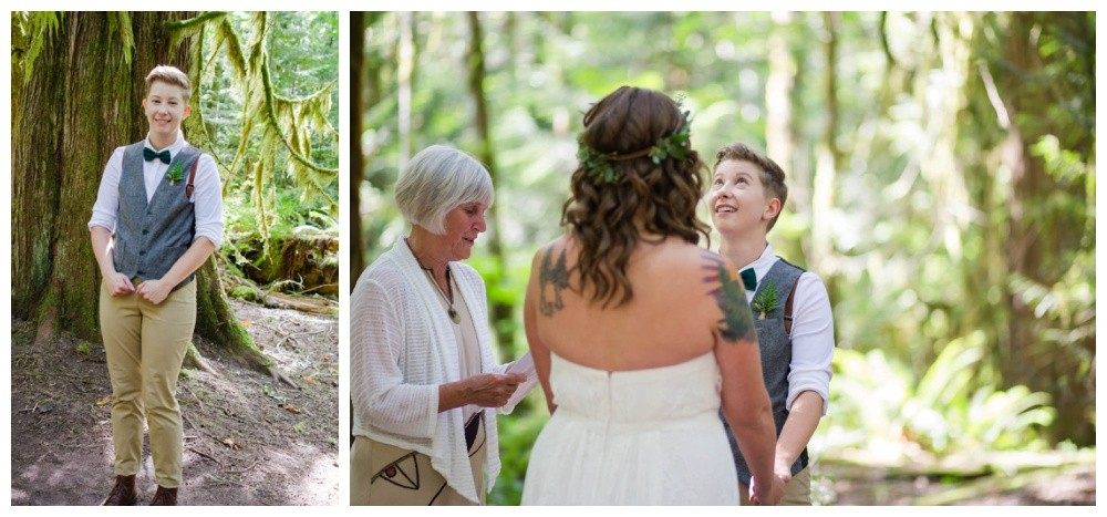 Intimate forest wedding in squamish bc