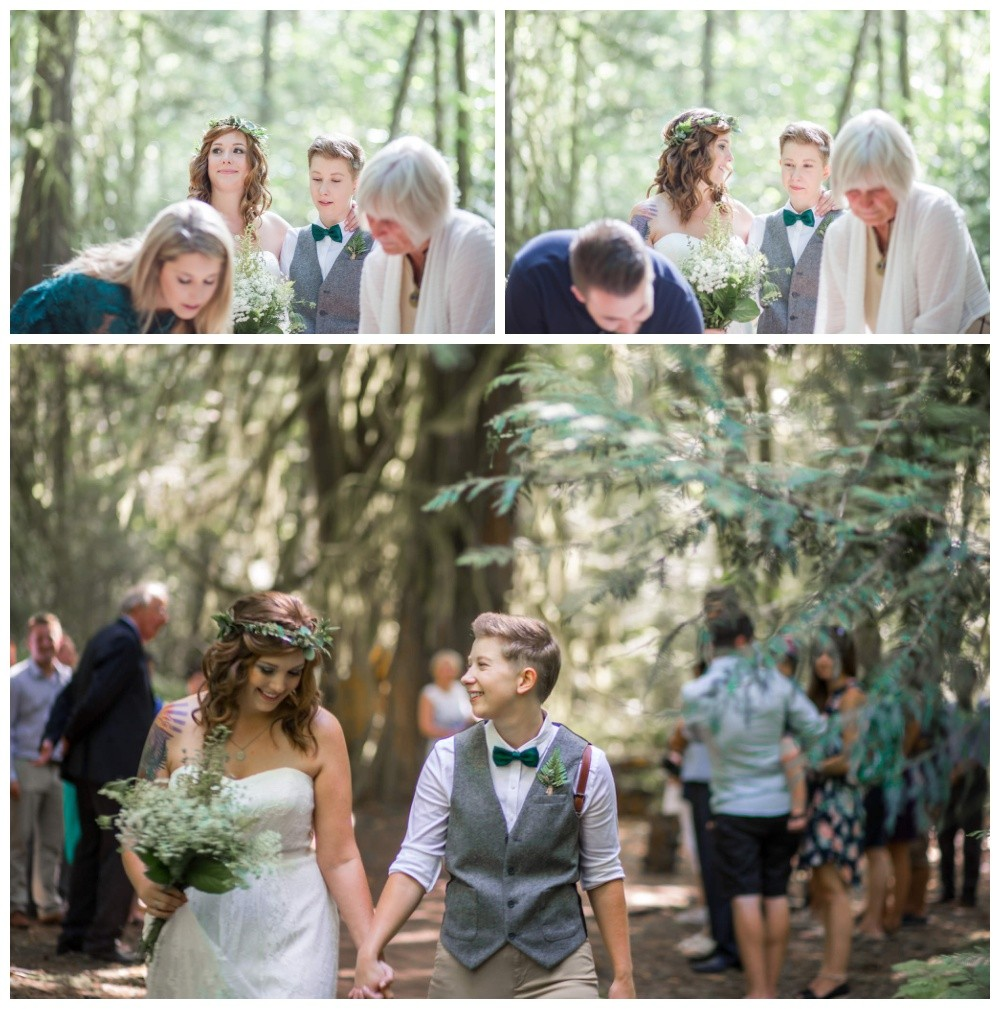 Intimate nature centred LGBT wedding