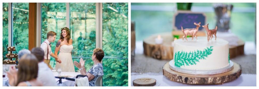 Wedding details at Cheakamus Centre in Squamish