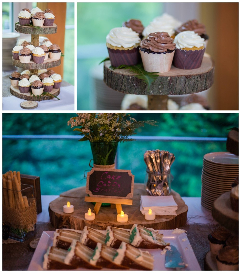 Forest themed wedding cake and treats
