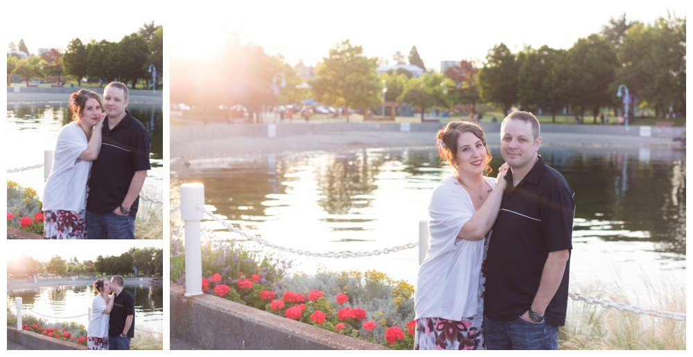 Sunset Engagement at the Seawall