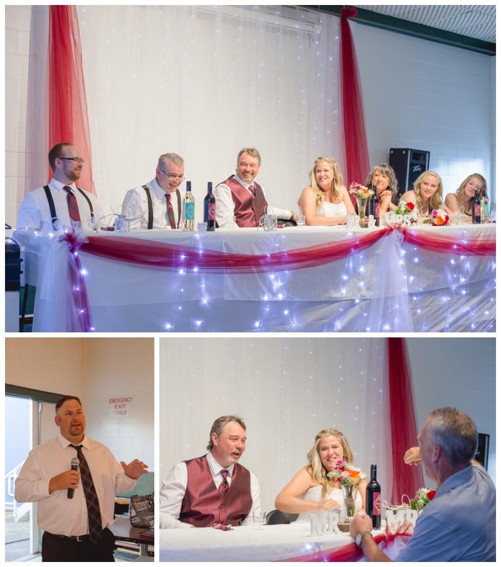 Speeches at comox legion wedding