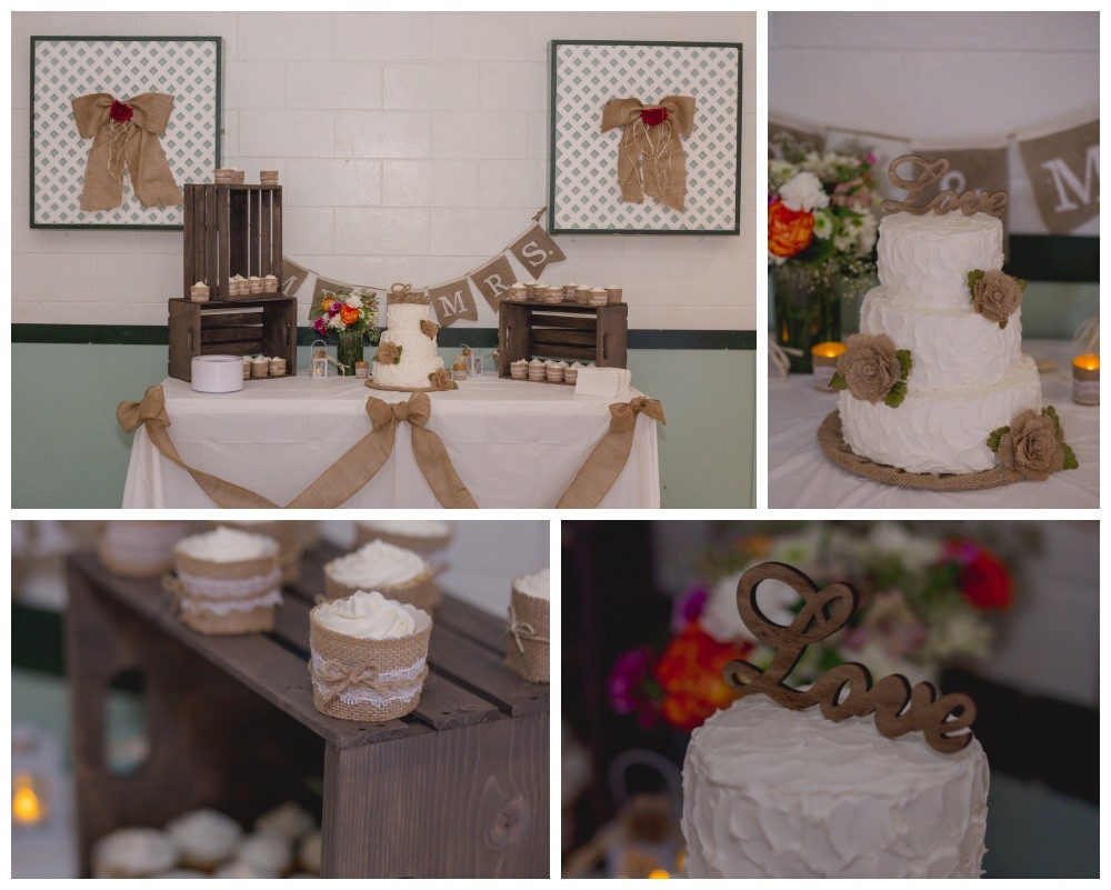 Wedding cake and desserts table
