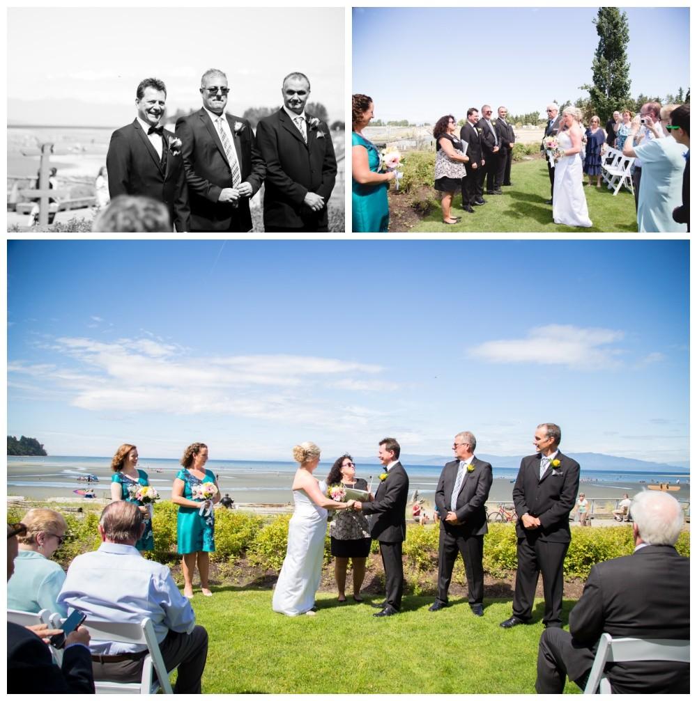 Parksville Beach wedding ceremony
