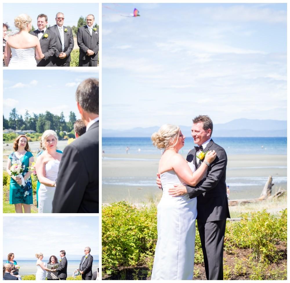 vancouver island beach club wedding ceremony