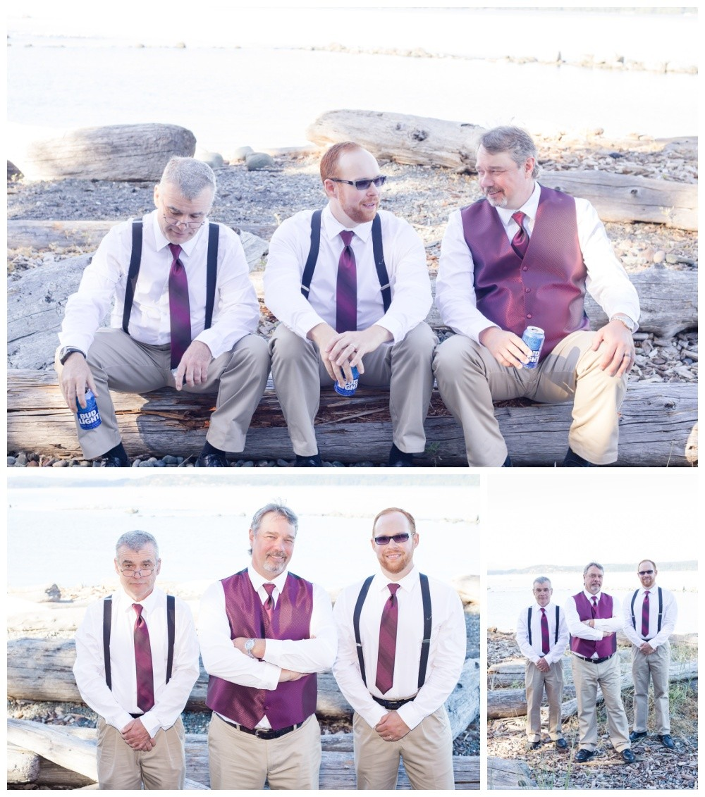 Groomsmen photos on the beach