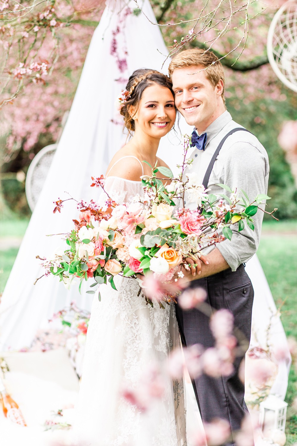 001 Cherry Blossom Boho Wedding