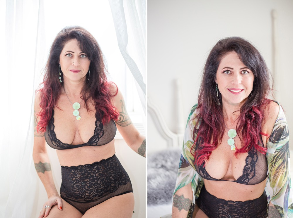 Tattooed Woman Boudoir Photos
