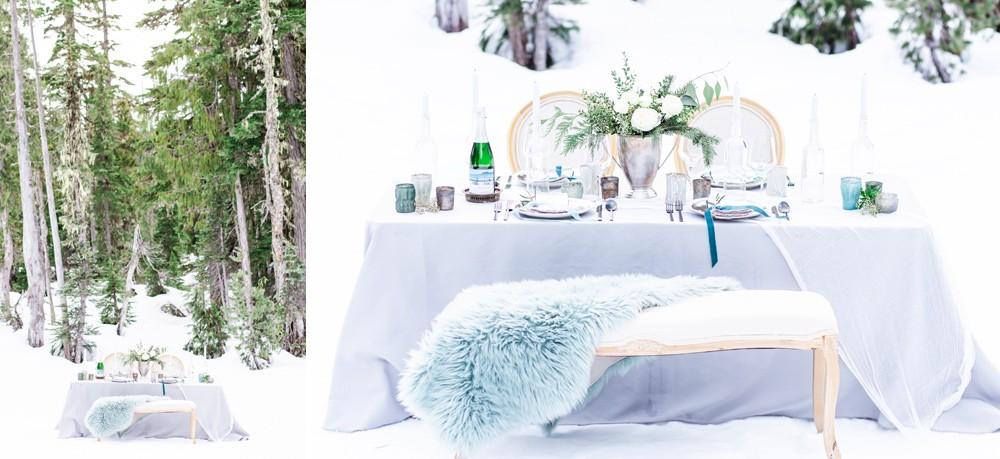 Winter inspired wedding decor
