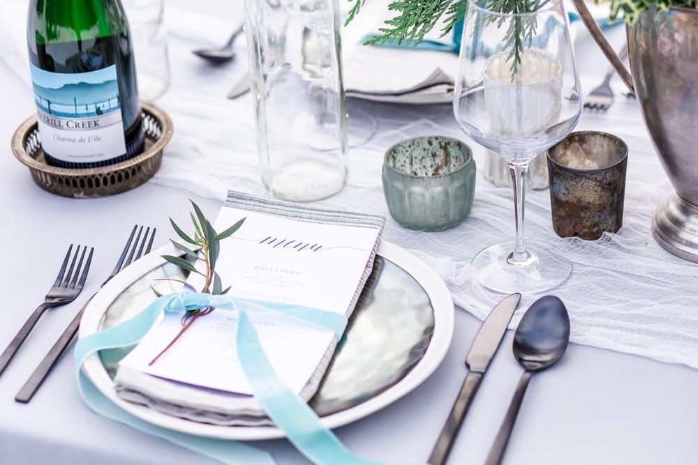 vancouver island forest wedding details