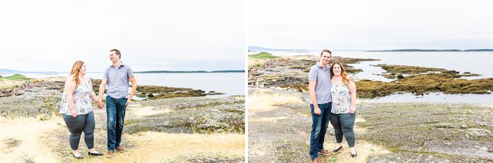 Colourful photos of a couple a vancouver island beach