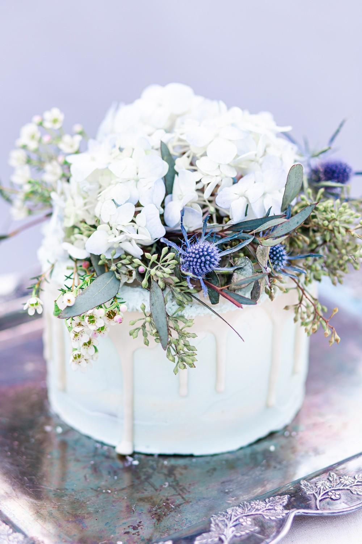 Winter Styled wedding cake