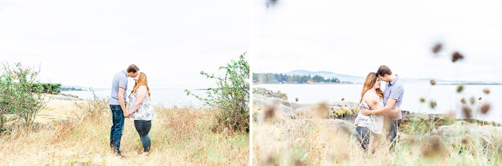 Bright and airy wedding engagement photos on Vancouver Island