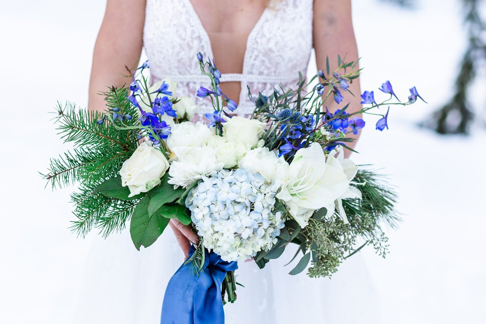 Winter Bridal Bouquet Vancouver Island